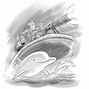 Warren de Montague, dolphins, The Rake