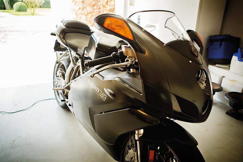 Ducati racing bike, The Rake