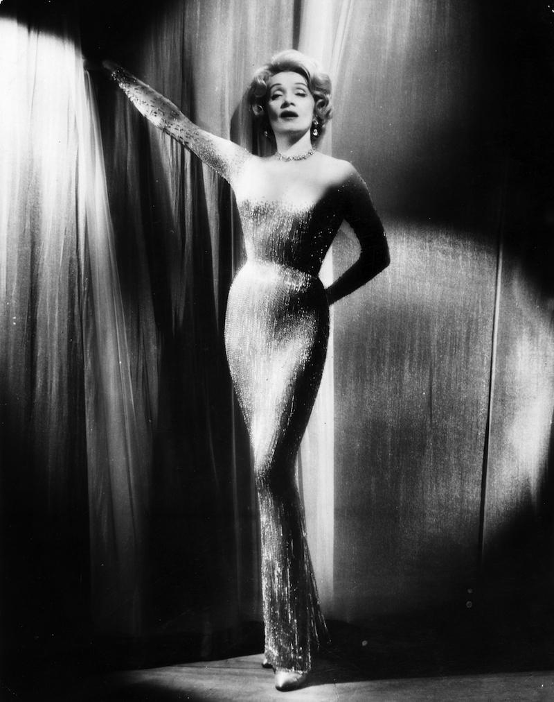 Marlene Dietrich, glamourous portrait, The Rake