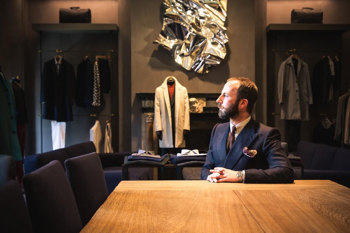 A London Street  Review of 3 Savile Row London England