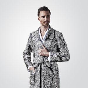 The Rake, New & Lingwood, Dressing Gown, Silk Robe, Robe Renaissance