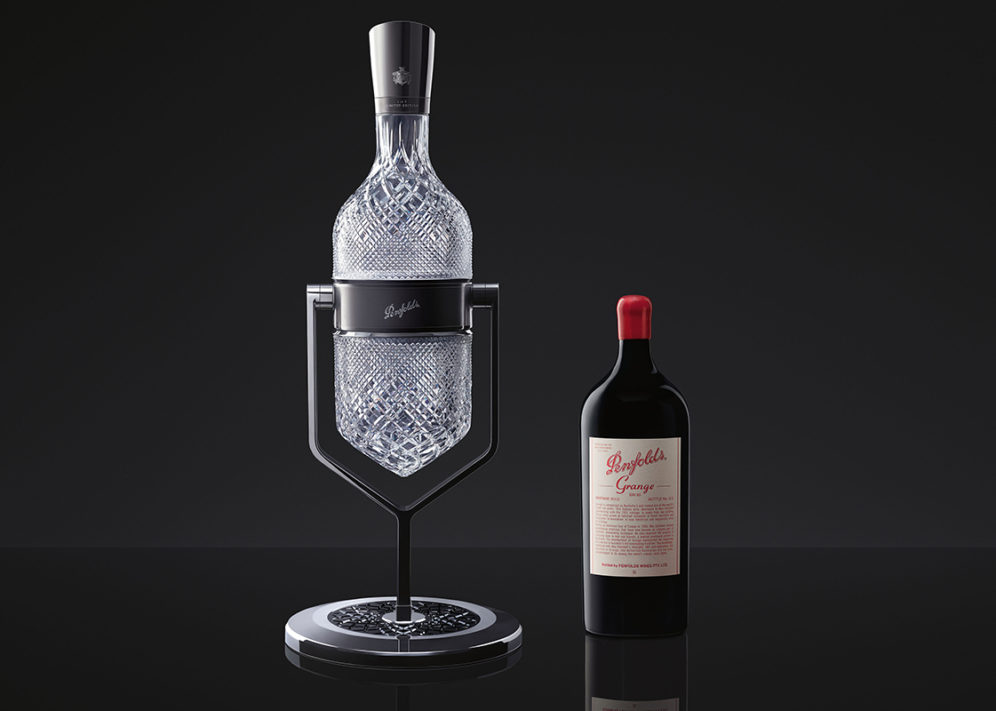 Penfolds Aevum Imperial Service Ritual accompanied by a 2012 Grange Imperial (6 Litre) bottle