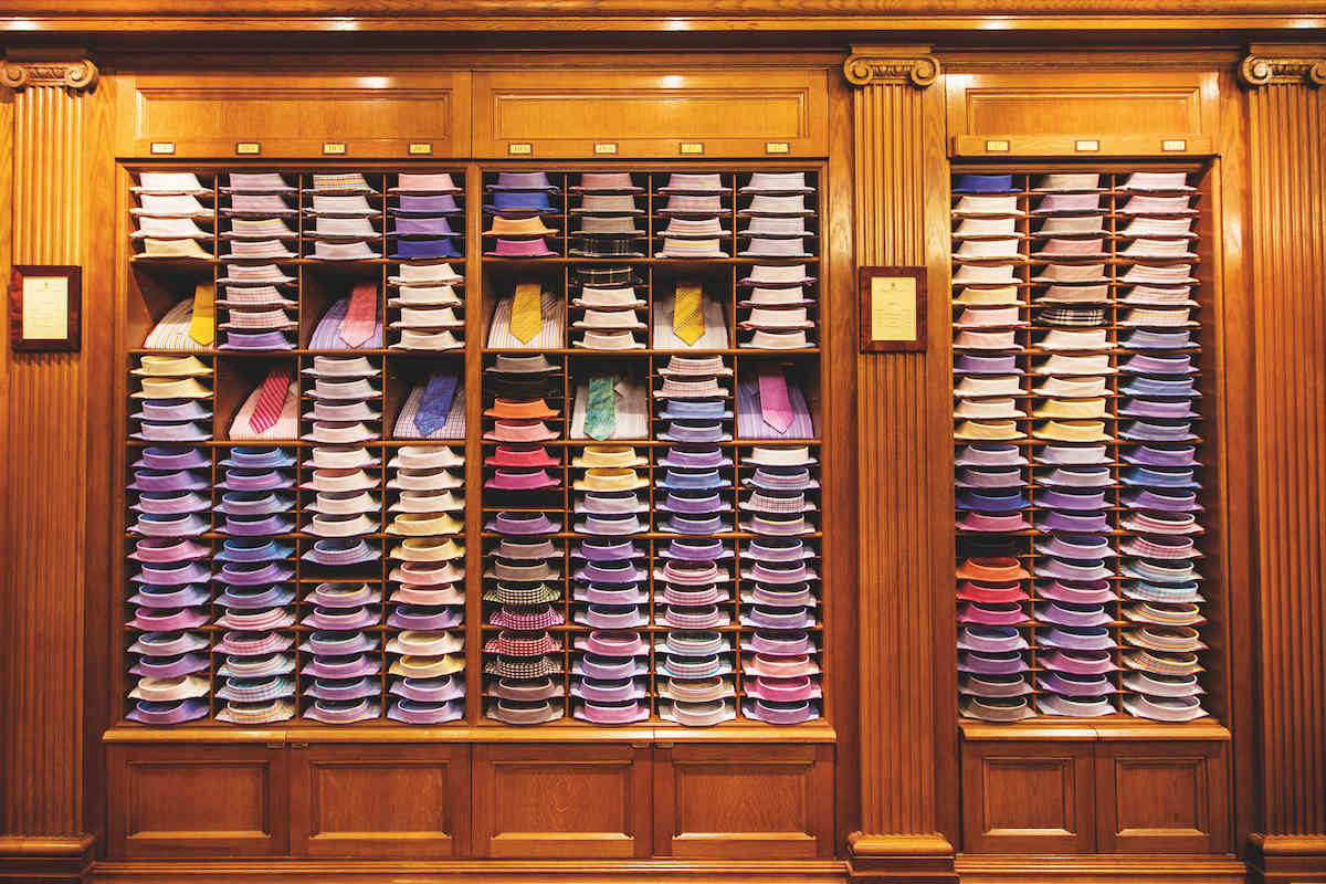 A display of shirts in Turnbull   Asser s flagship Jermyn Street store. a050613c1ccca