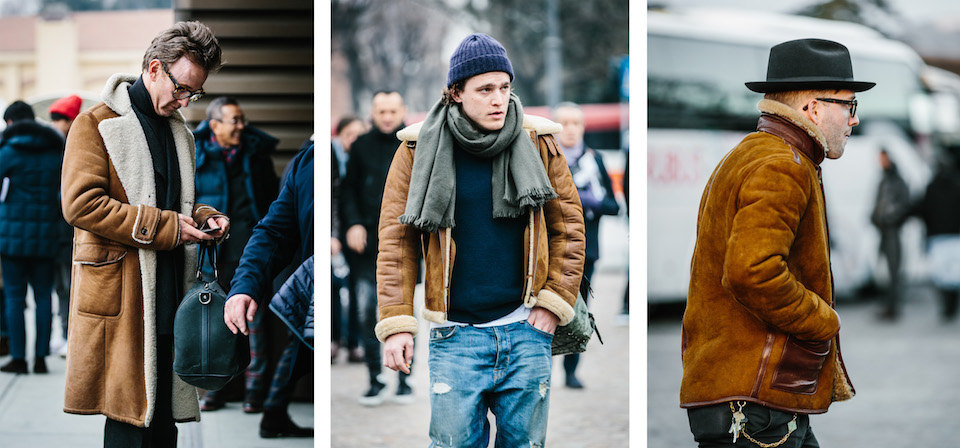 the rake, shearling street style