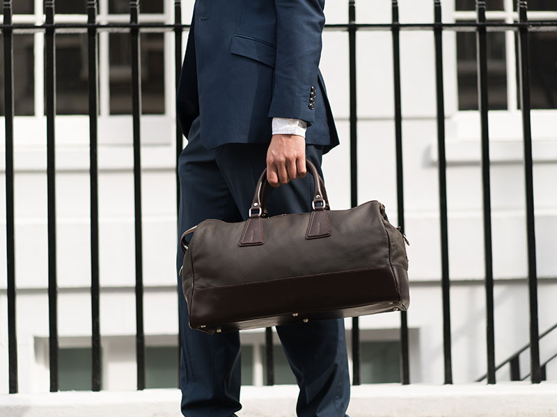 Pickett's luxury leather bags will look damnably stylish partnered with a classic suit.