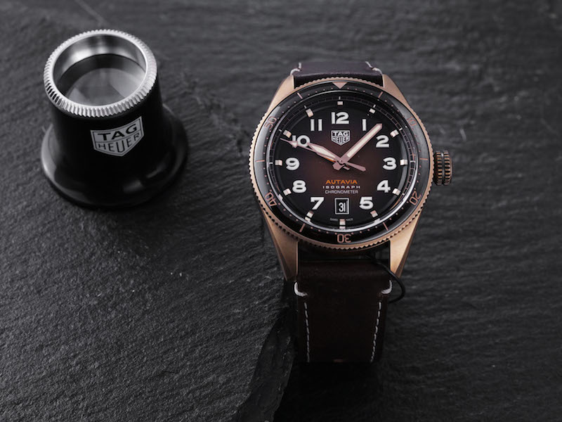 TAG Heuer Autavia Isograph Collection in Bronze